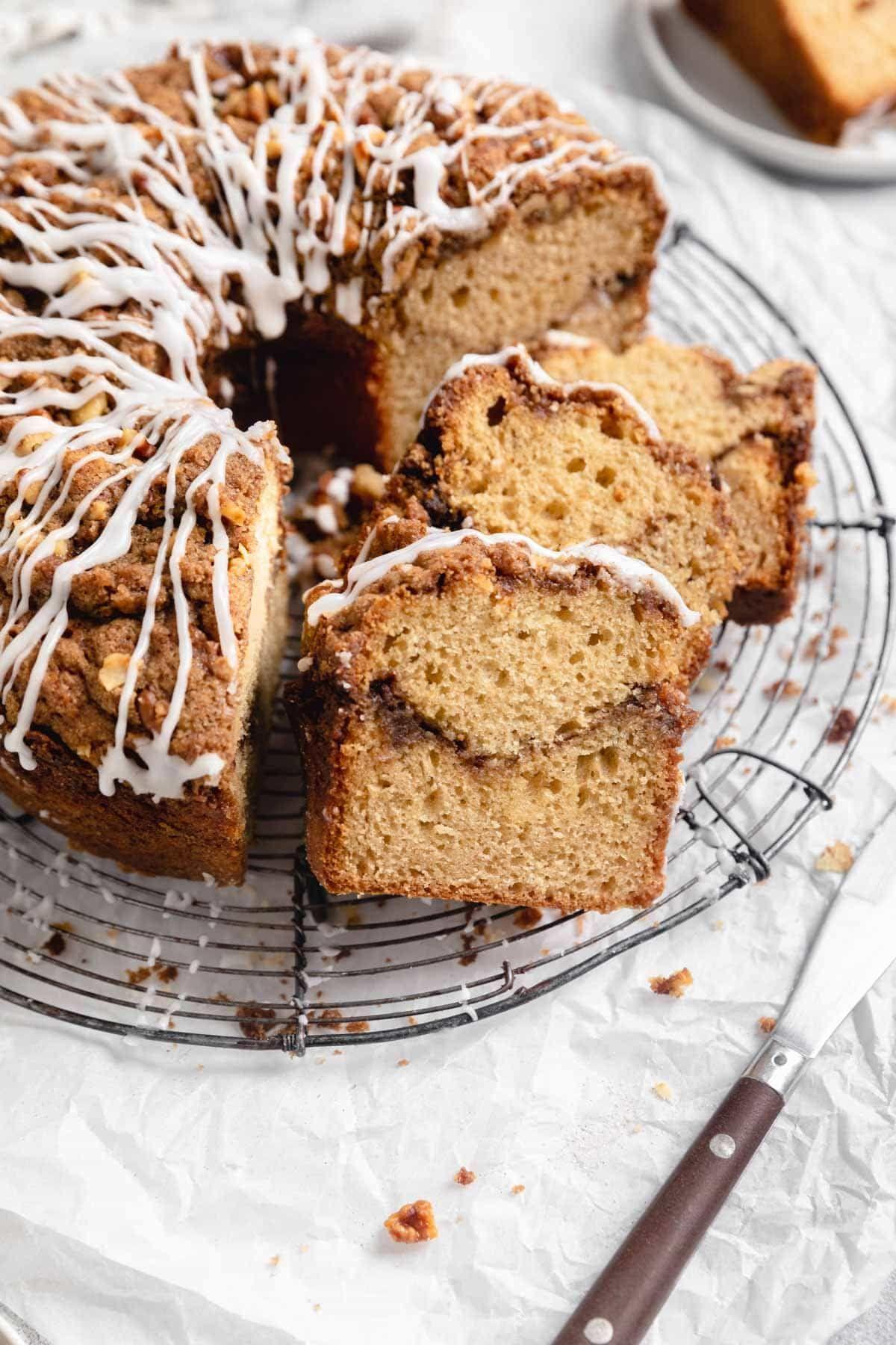 Classic Sour Cream Coffee Cake Broma Bakery Recipe In 2020 Broma Bakery Coffee Cake Coffee Cake Recipes