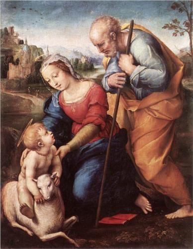 The Holy Family With A Lamb Rafael Sanzio Sagrada Familia Museo Nacional Del Prado Museo De El Prado