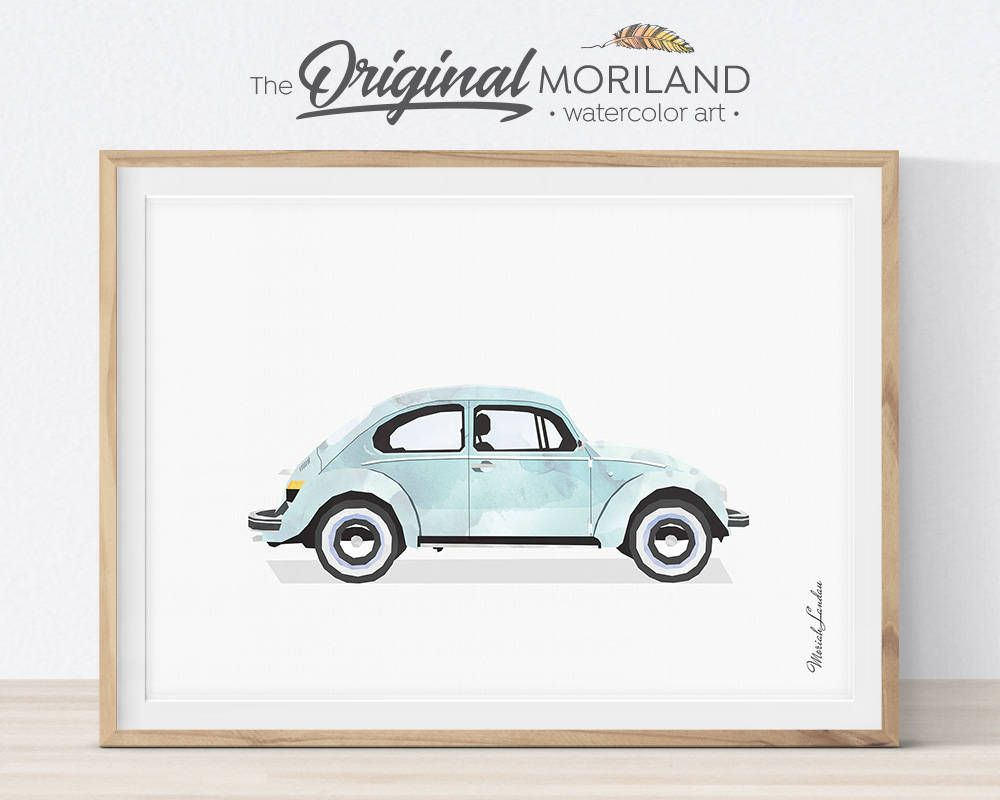 Classic Car Print, Classic Car Wall Art,Transportation Print, Car Printable, Big Girl Boy Room Decor, Boy Nursery Decor, Vintage Car Print
