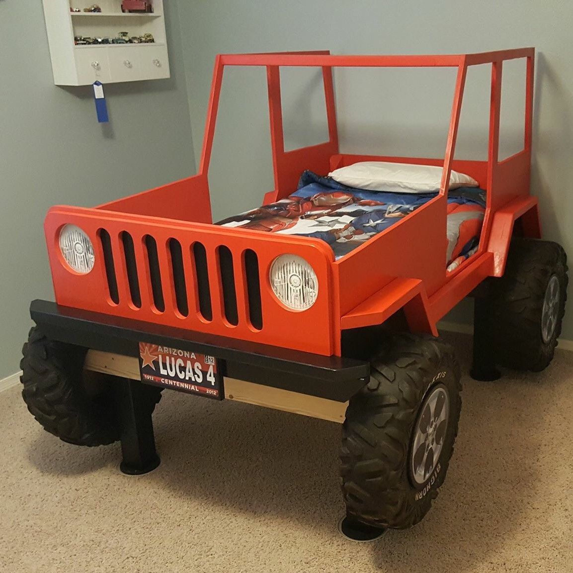 Jeep Bed Plans Twin Size Car Bed Two Pinterest Car