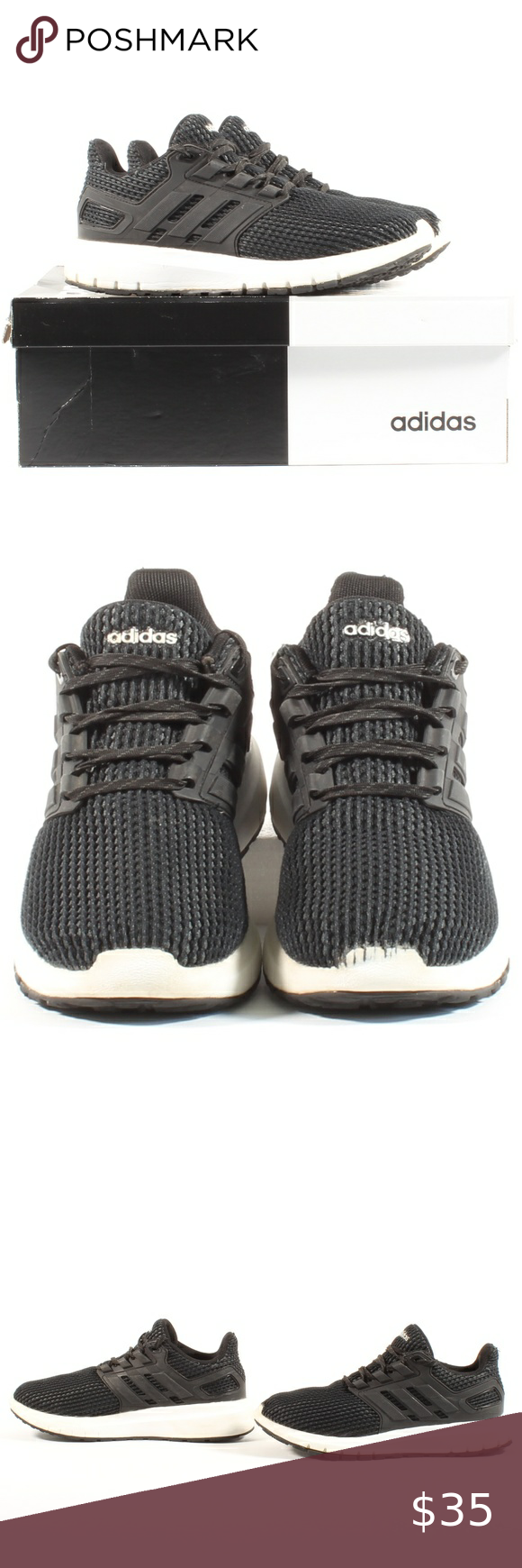 Adidas Mens Athletic Running Shoes Sneakers Size 8 | Running shoes ...