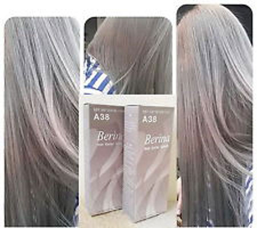 Details about 2 Pcs GENUINE Berina Light Ash Blonde color A38 Permanent Hair Dye Color Cream+ #lightashblonde