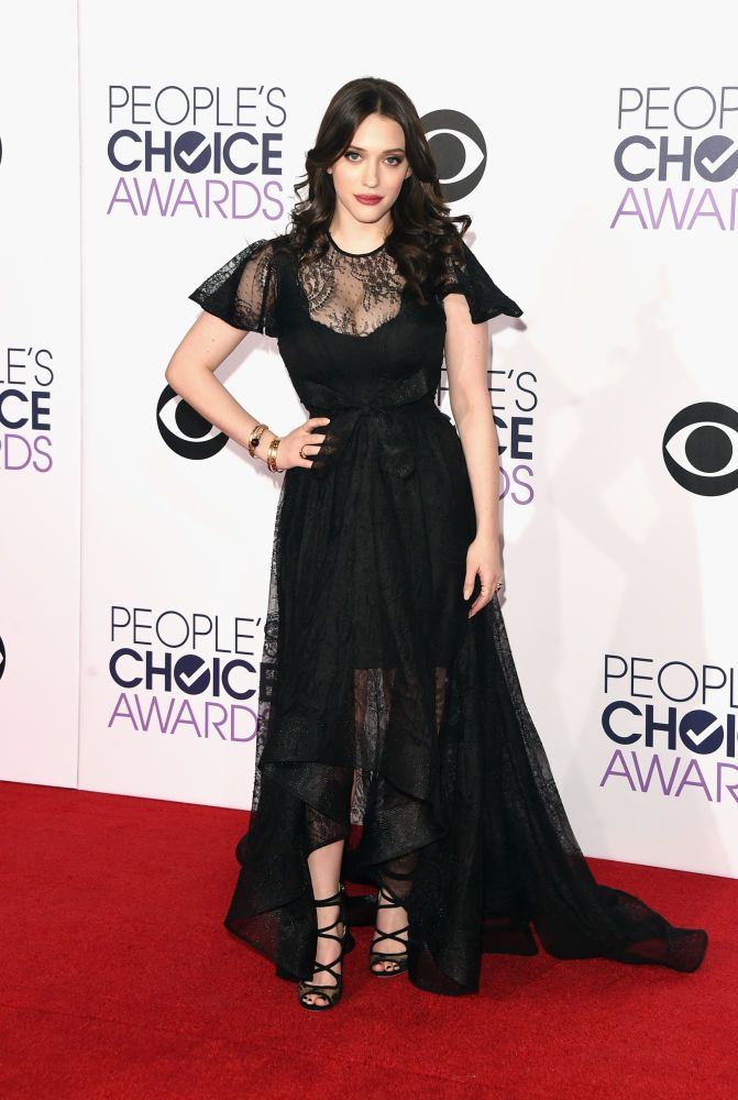 Kat Dennings in Ludmila Corlateanu at the 41st Annual People's Choice Awards. Photo: Jason Merritt/Getty Images.