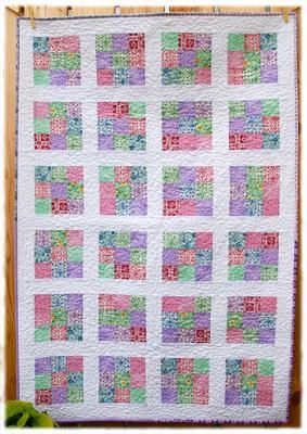 Modified Nine Patch Quilt Pattern | Handmade Baby Quilt Ideas and ... : baby quilt square ideas - Adamdwight.com