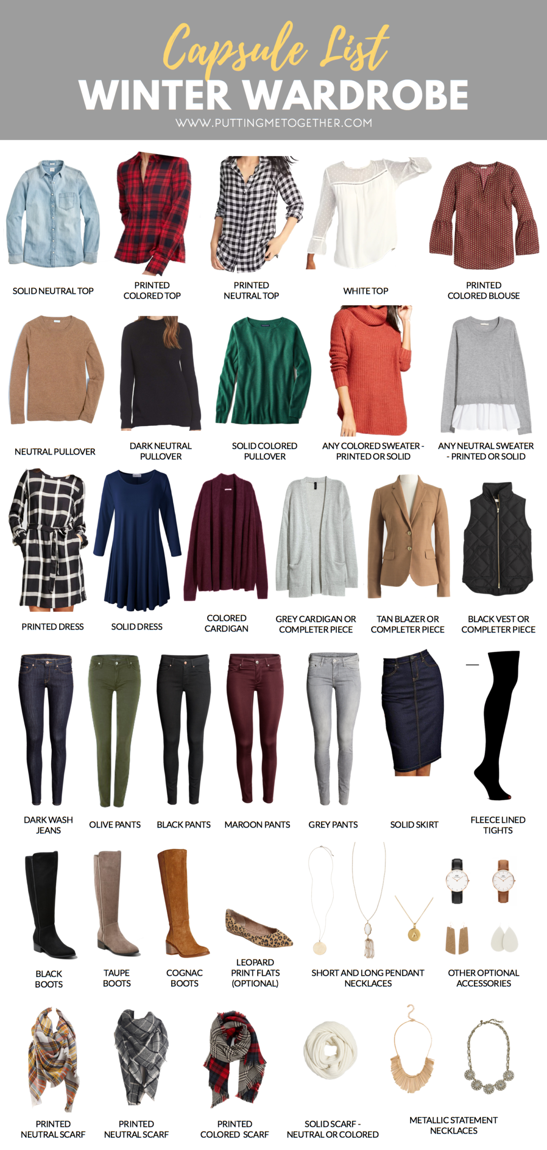 The Putting Me Together Winter 2018 Capsule Wardrobe