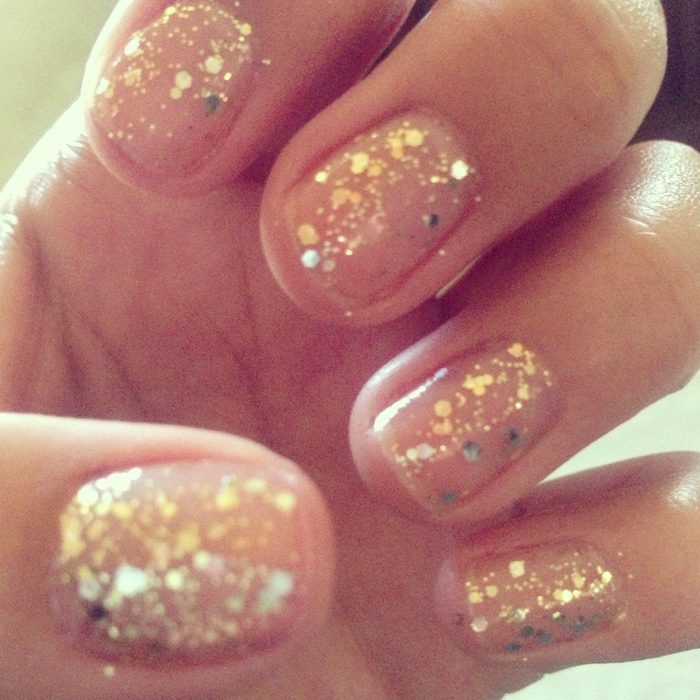 Kissed At Midnight Glitter Nails