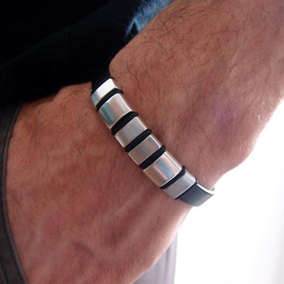 172bd730fd7149 Black leather bracelet men, hand made men's jewelry, men's leather bracelets,  mens bracelet, jewelry, for man, christmas gift, norart,,