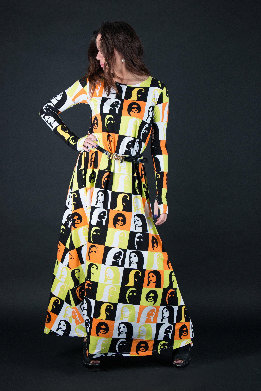 Autumn Winter Maxi Dress, Plus Size Dress, Long women Dress, Plus ...