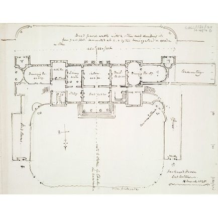 Annotated plan of wood Park, Hampshire, the residence of ... on green plan, church plan, salvation plan,