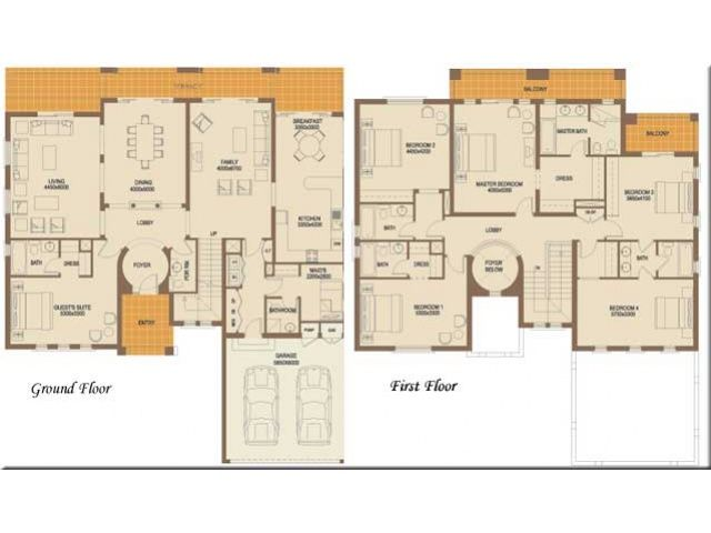 Six bedroom floor plans | design ideas 2017-2018 | Pinterest ...