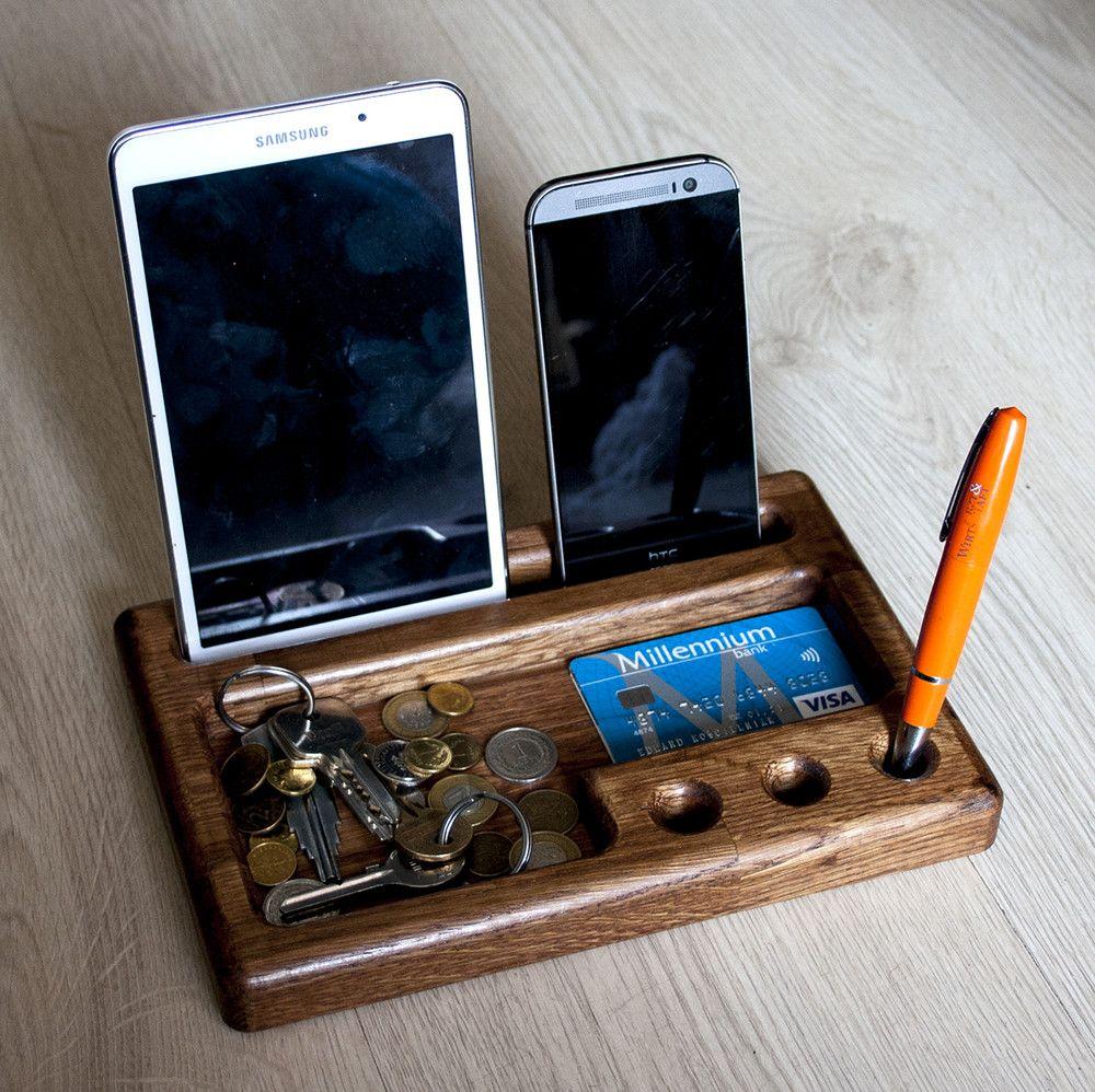 Organizer Debowy Podstawka Pod Telefon I Tablet E Form