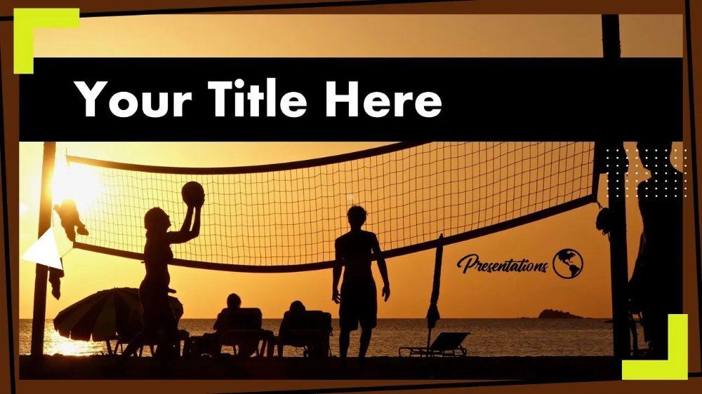 Volleyball Teamwork Powerpoint Template And Google Slides Themes Myfreeslides Google Slides Themes Google Slides Powerpoint