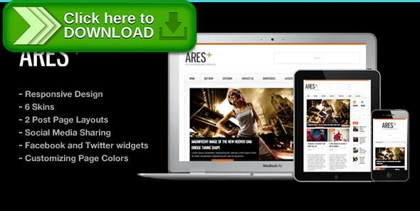 Free Nulled Ares Blog Magazine Newspaper Template Download  Newspaper