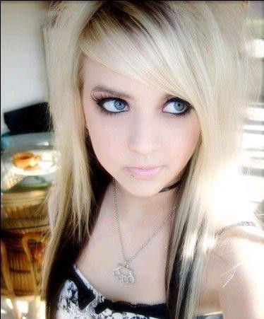 Cute Blonde Emo Girl Scene Hair