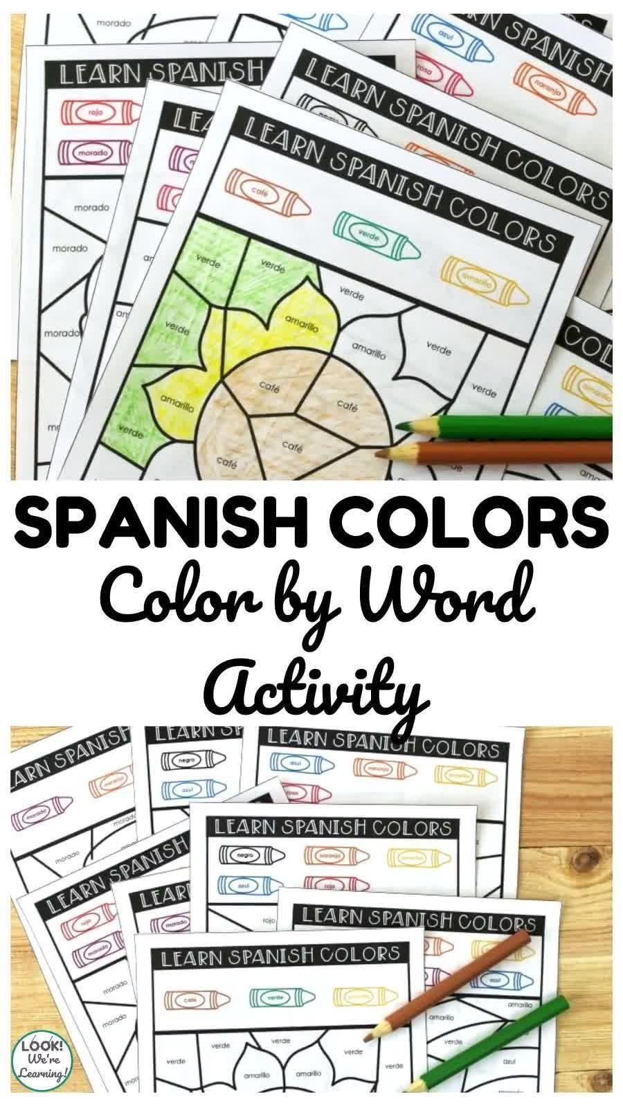 Aprendemos Colores Spanish Color Words Activity Video Video Word Activities Color Word Activities Kids Spanish Activities [ 1600 x 900 Pixel ]