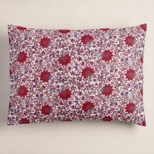 One of my favorite discoveries at WorldMarket.com: Floral Kareena Pillow Shams, Set of 2