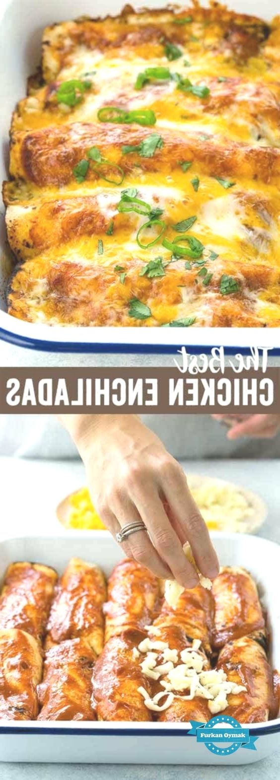 This easy chicken enchiladas recipe is an authentic Mexican food staple. Tender... -