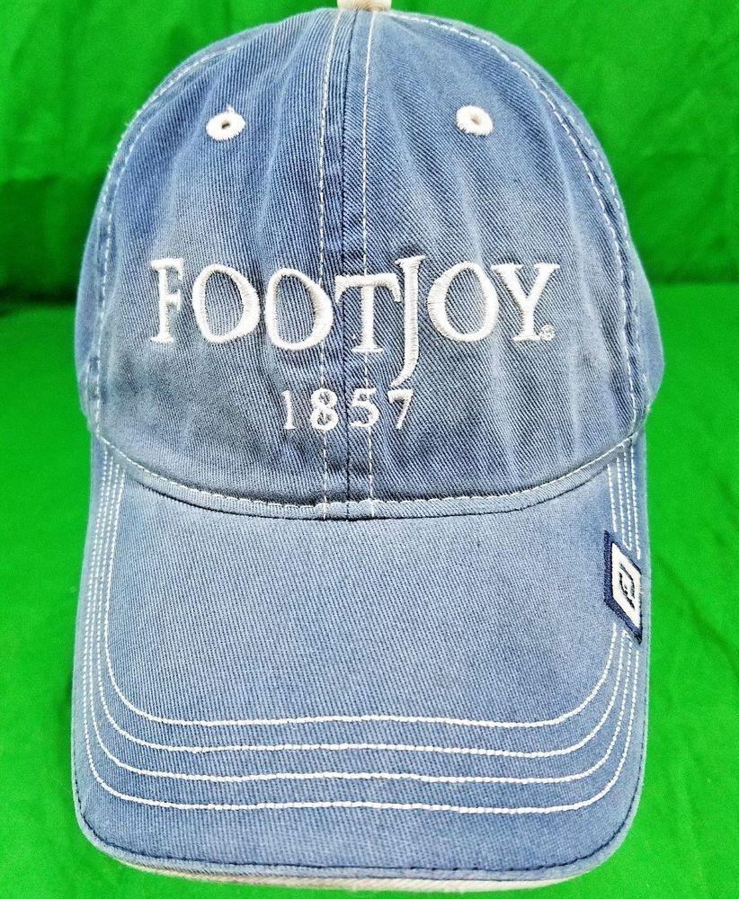FJ FootJoy Golf Hat Unstructured Distressed Dad Strapback Cap  FootJoy   DadHat 1a9fc6f54ba