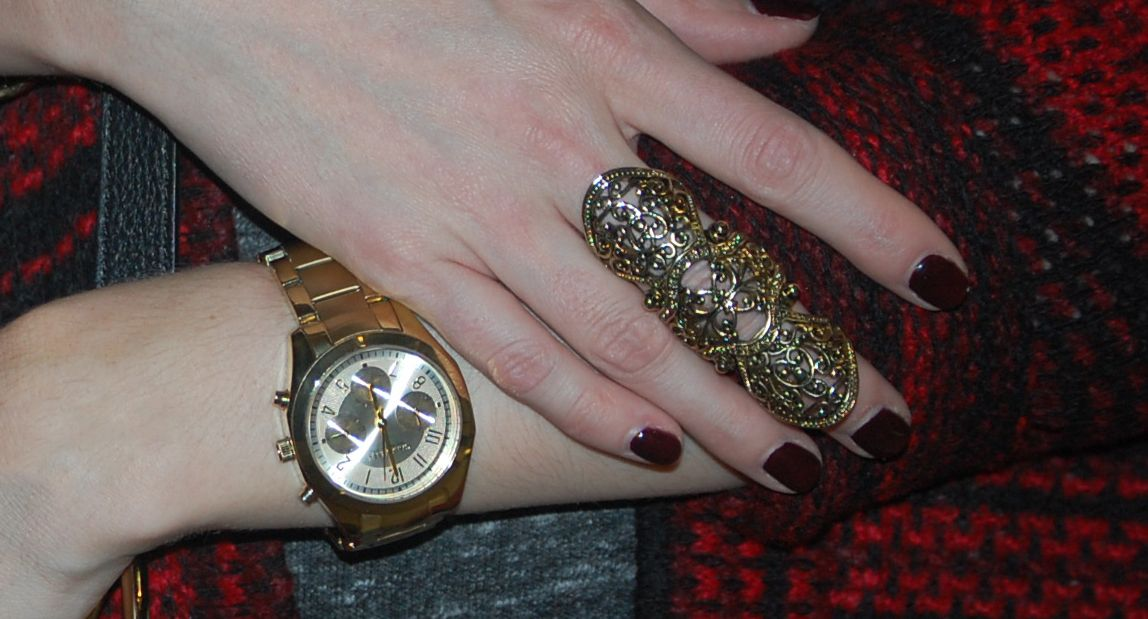 Gold Tone Jewellery featuring Caravelle New York and H&M