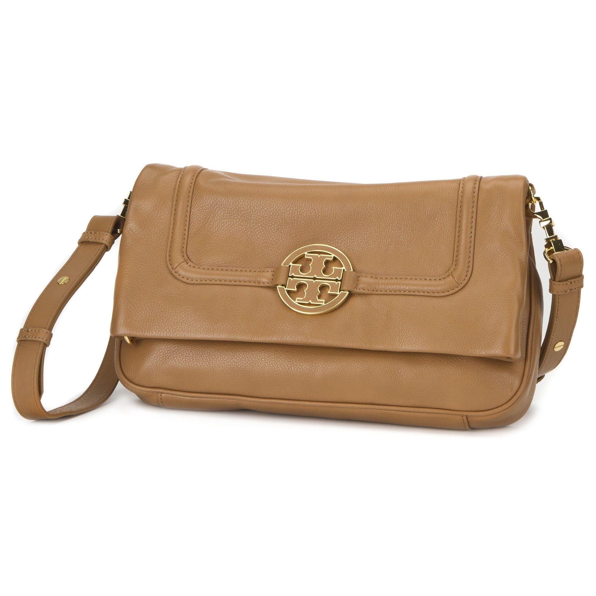 f05a3a5f91b8 Tory Burch Amanda Foldover Royal Tan Messenger Bag