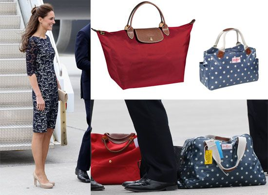 058262230bf3 Pictures of Kate Middleton in Canada  Copy Her Carry On Luggage Style from  Cath Kidston and Longchamp!