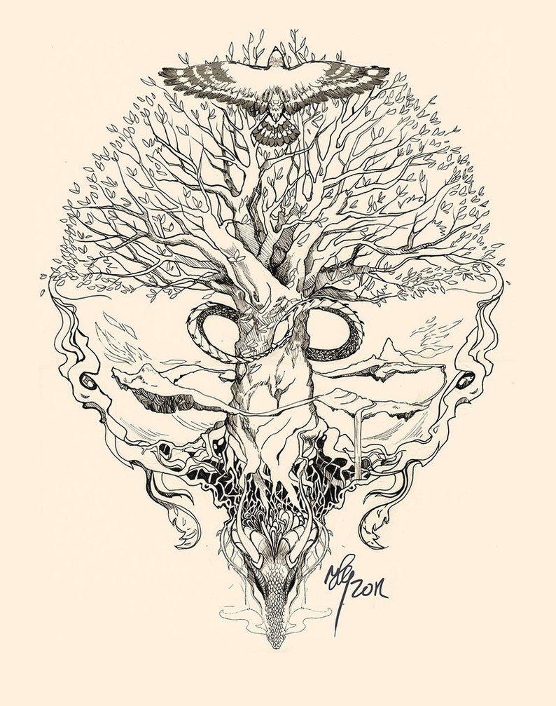 Yggdrasil Tattoo Yggdrasil Uroboros By Sunshiver Tattoos