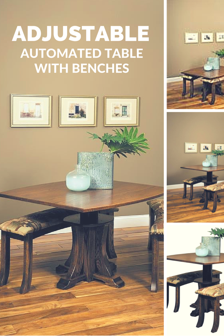 Amish Adjustable Table And Bench Set Table Bench Set