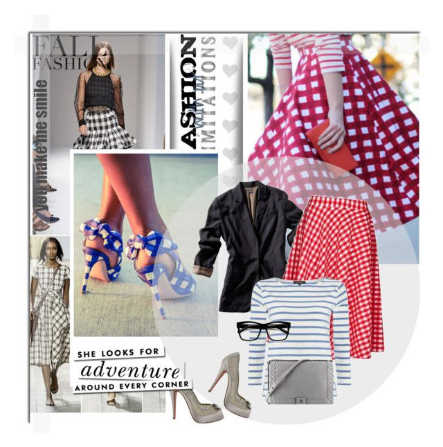 """""""Gingham"""" by la-dolce-vita19 ❤ liked on Polyvore featuring Christian Louboutin, Vince, Jaeger, Chanel, Kate Spade and MANGO"""