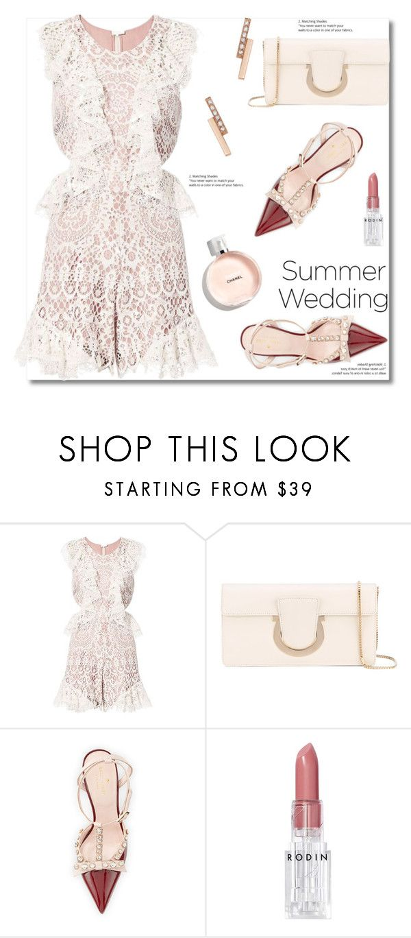 """Say I Do: Summer Weddings"" by paculi ❤ liked on Polyvore featuring Alexis, Salvatore Ferragamo, Kate Spade, Rodin, ZoÃ« Chicco and summerwedding"