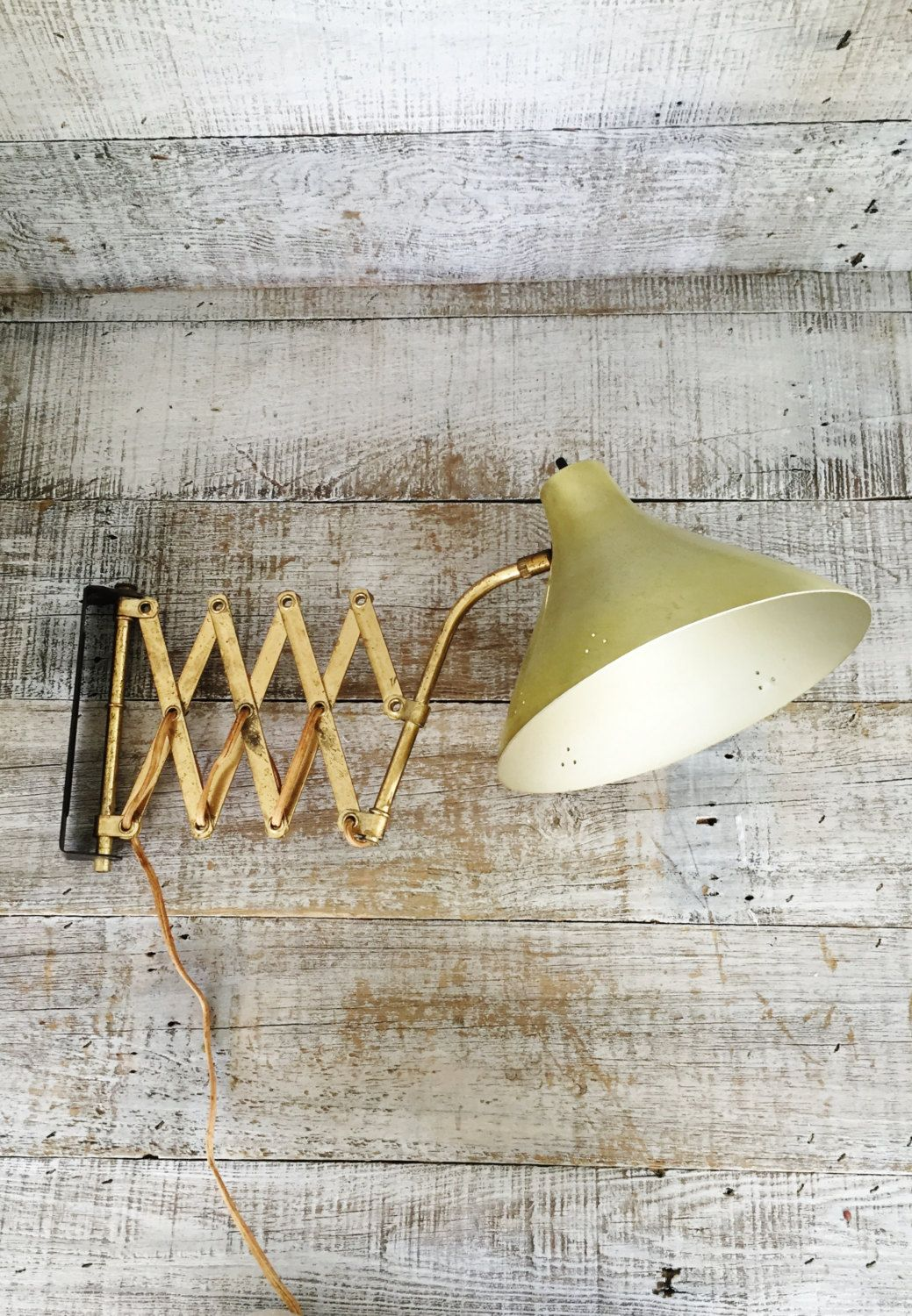 Accordion Wall Lamp Scissor Mount Arm Extendable Swing Light Vintage Swivel Mid Century Lighting By
