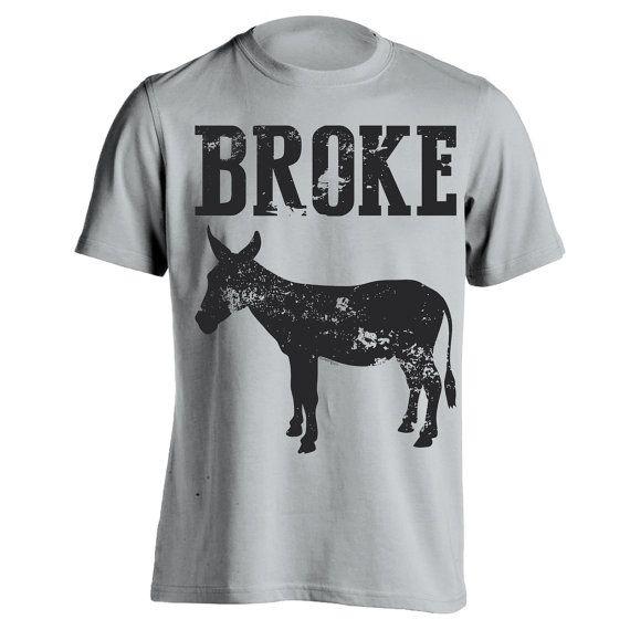 BROKE ASS  funny original Donkey Tees hip cool by TeesToYou, $11.70