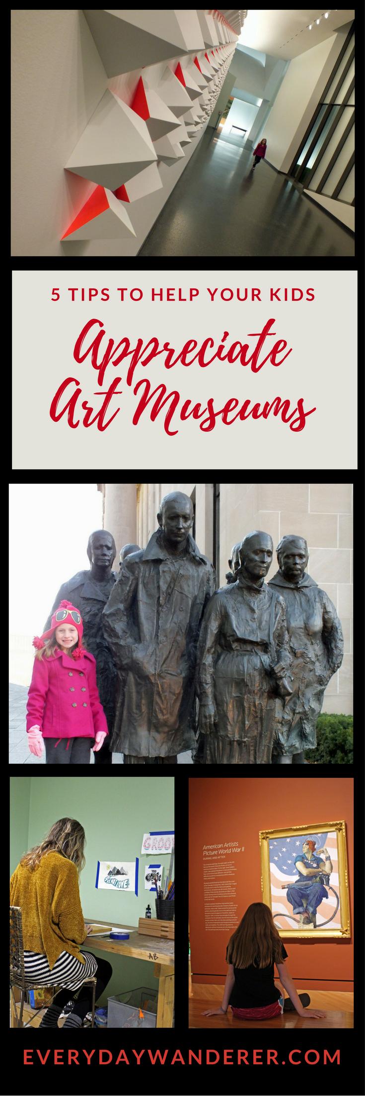 5 tips to help your kids appreciate art museums by everydaywanderer.com #art #museum #artmuseum #travel #kids