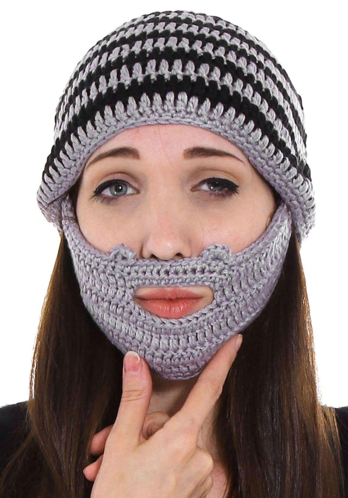 Uk Store Fd86d 4ac5f Crochet Beard Beanie Ashlee Marie Real Fun With