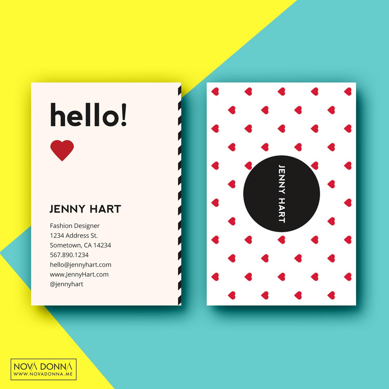 Business Card Template Designs Modern Hearts Business Card Template Business Cards Creative Templates Business Card Template Design