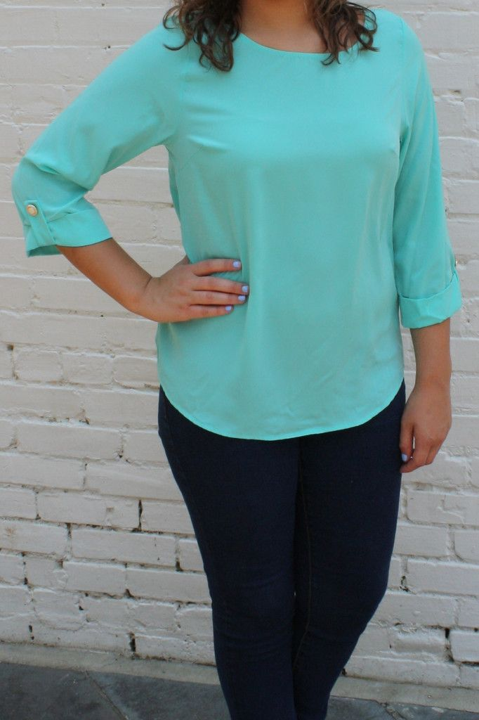 Pretty N' Posh Blouse - Mint
