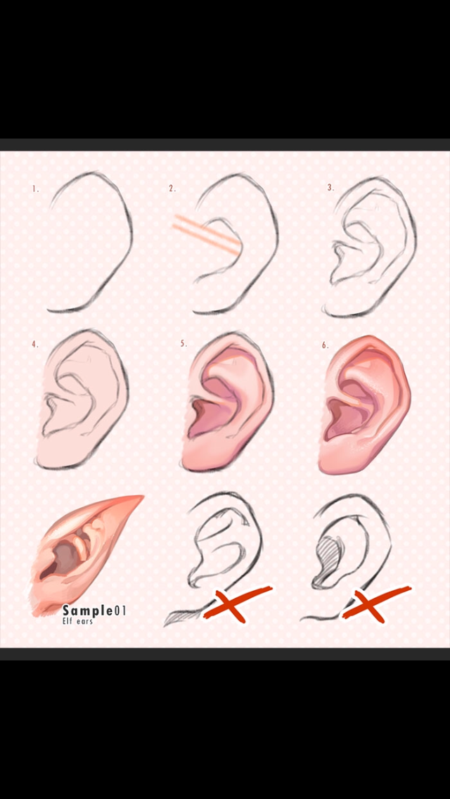 I Cant Draw Realistic Ears So This Helps So Much Drawing Tutorial Art Reference Art Tutorials