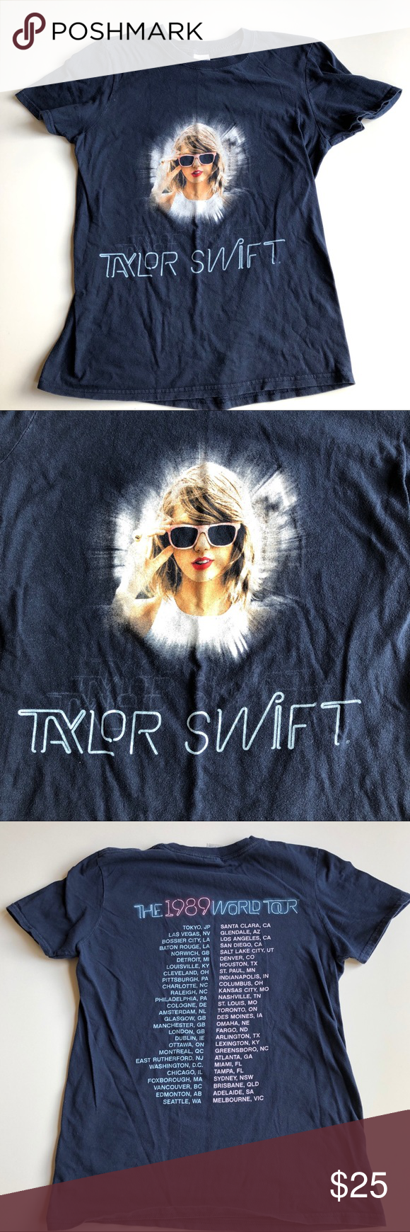 Taylor Swift concert graphic t-shirt 1989 tour S Taylor Swift concert graphic t-shirt | The 1989 world tour. Size small in excellent condition. Tops Tees - Short Sleeve #countryconcertoutfit