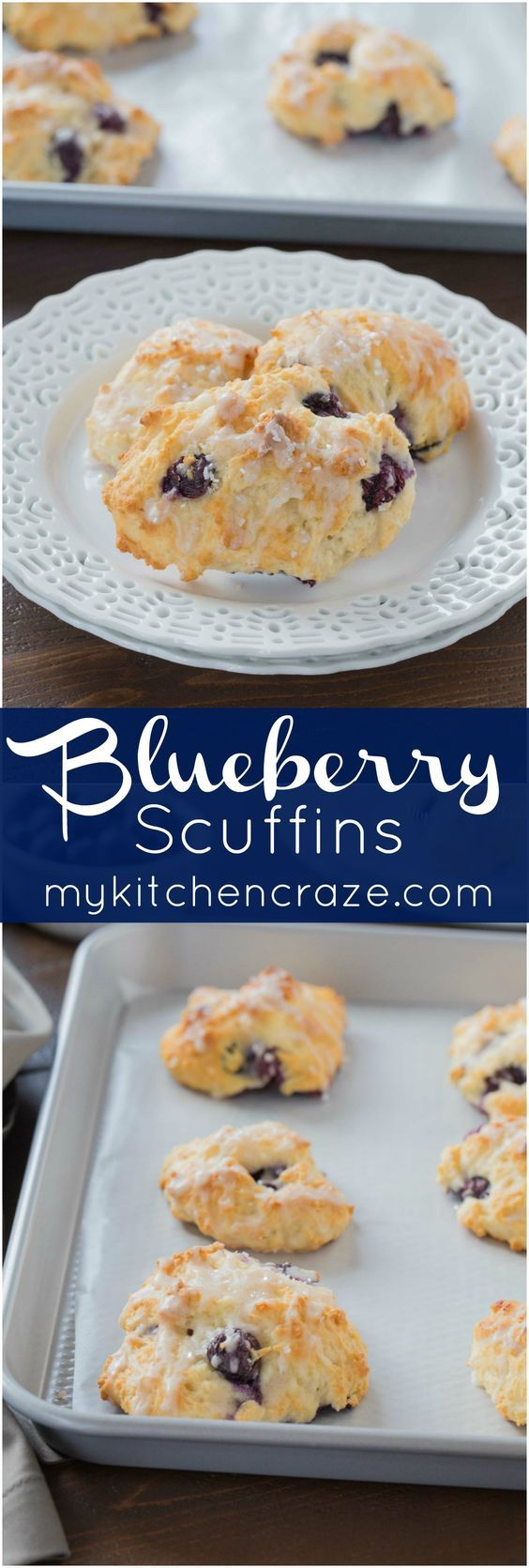 Blueberry Scuffins ~ mykitchencraze .com ~ They're not ...