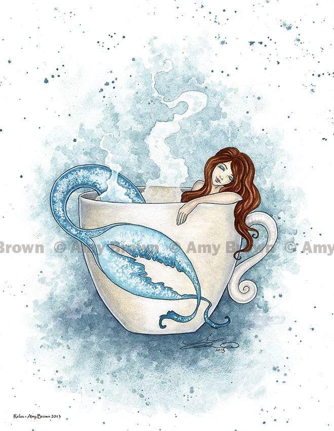 PRINTS-OPEN EDITION - Coffee and Tea Faeries - Amy Brown Fairy Art - The Official Gallery