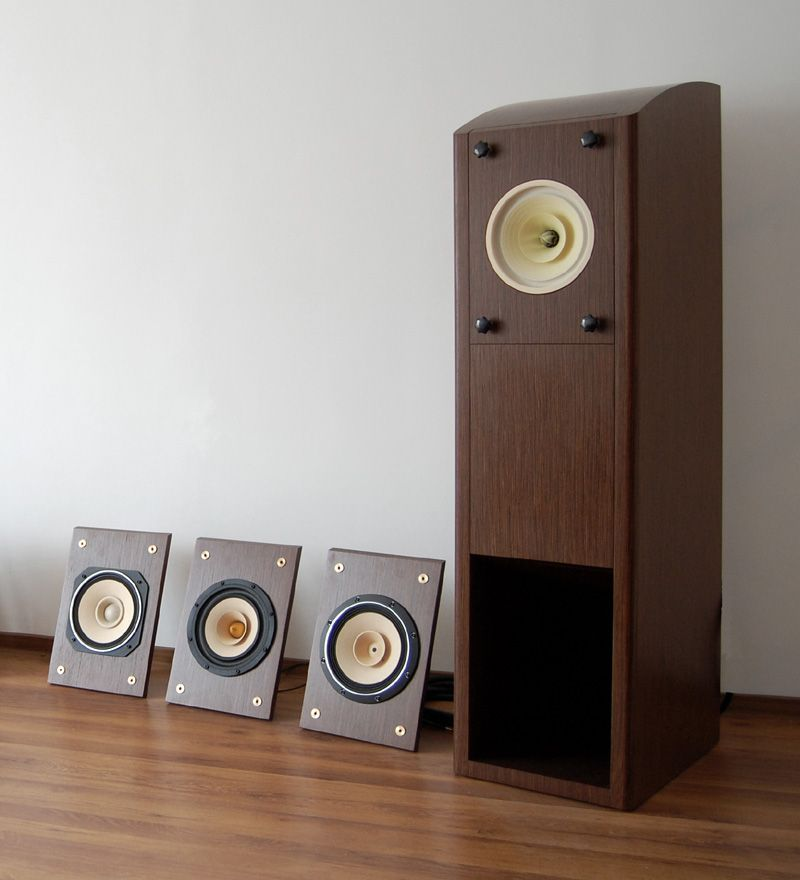 The Universal Horn with some replaceable loudspeaker panels