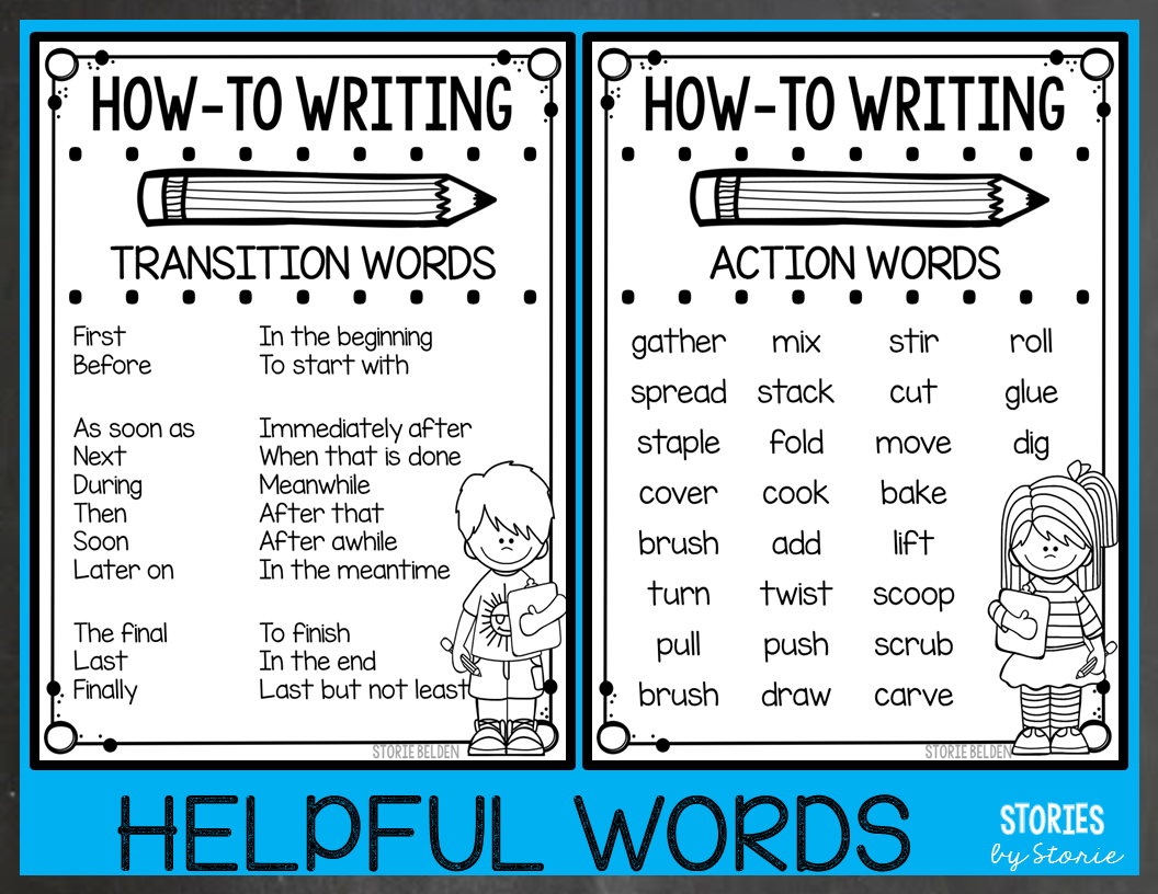 How-To Writing for 2nd Graders   Transition words [ 816 x 1056 Pixel ]