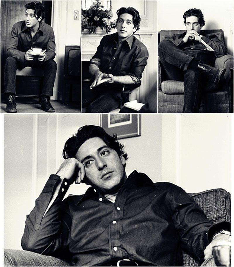 Al Pacino fotografiado por Steve Wood, 1974