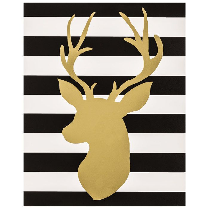 Striped Deer Head MDF Wall Decor | Hobby Lobby | GOLD | Pinterest ...