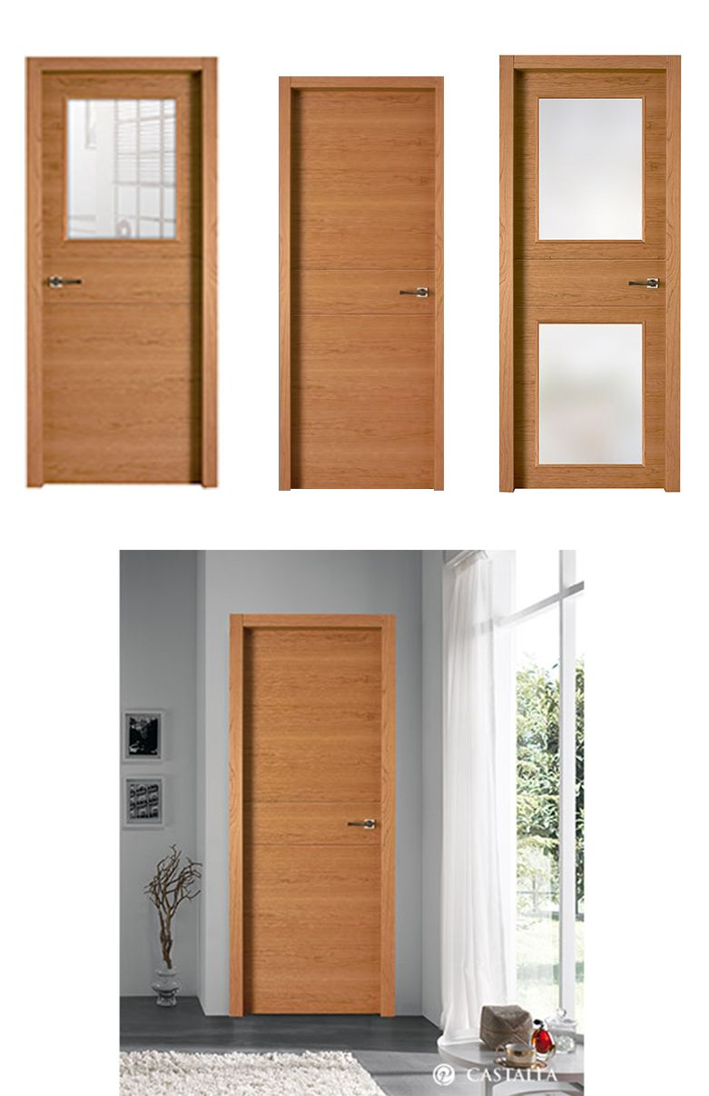 Puerta de interior clara modelo sena de la serie tempo for Puertas castalla