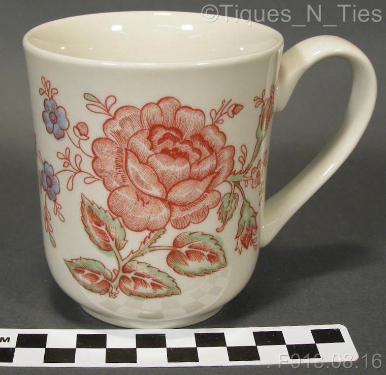 1b7bf2cdde9 Johnson Brothers England Rose Chintz Pink Coffee Mug or Cup (FF ...