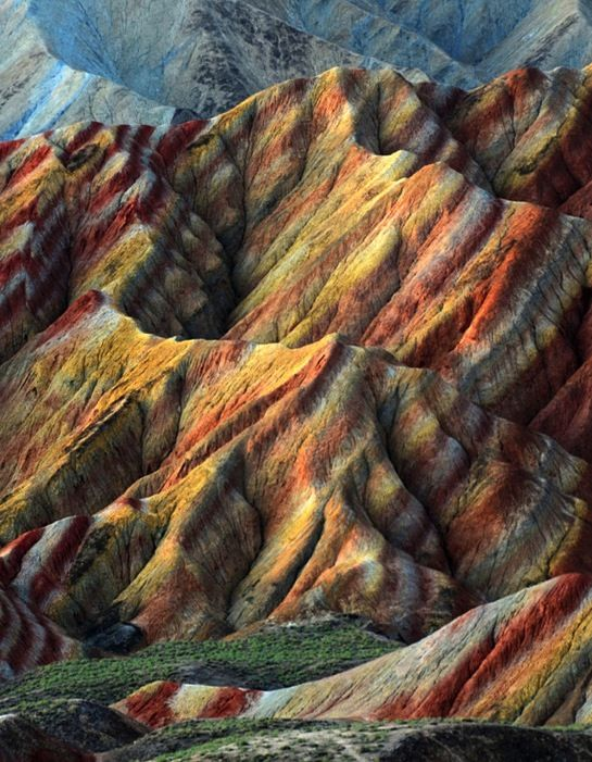The Most Colorful Places on Earth Zhangye danxia landform - land form
