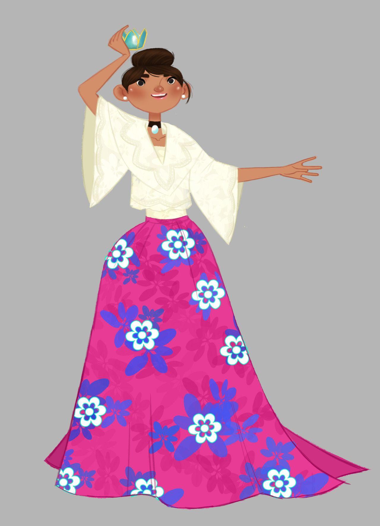 Filipino Kimona Dress. Spanish influence with Polynesian floral ...