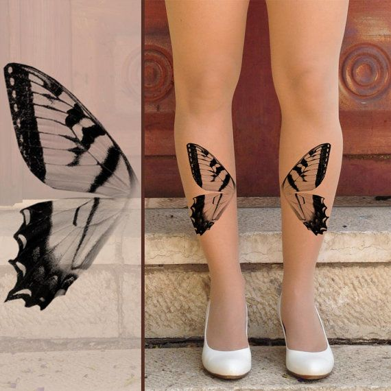 BUTTERFLY WINGS -Tattoo Tights