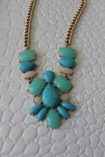 'San Sebastian Blues'  Bib Necklace