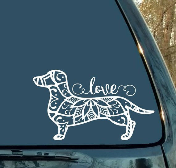 Dachshund Decal Woman Gift Gift For Wife Dog Mandala Decal